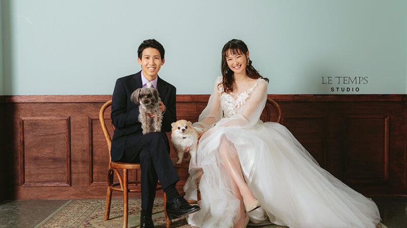 【お客様アンケート】渡韓は断念したけど「ここで撮りたい!」と思えるスタジオが見つかりました♡愛犬もつれておふたりらしい韓国フォトウェディングに。